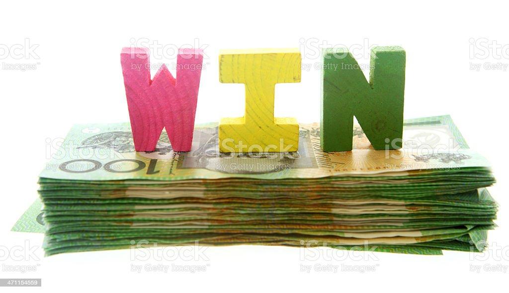 Cash Win royalty-free stock photo