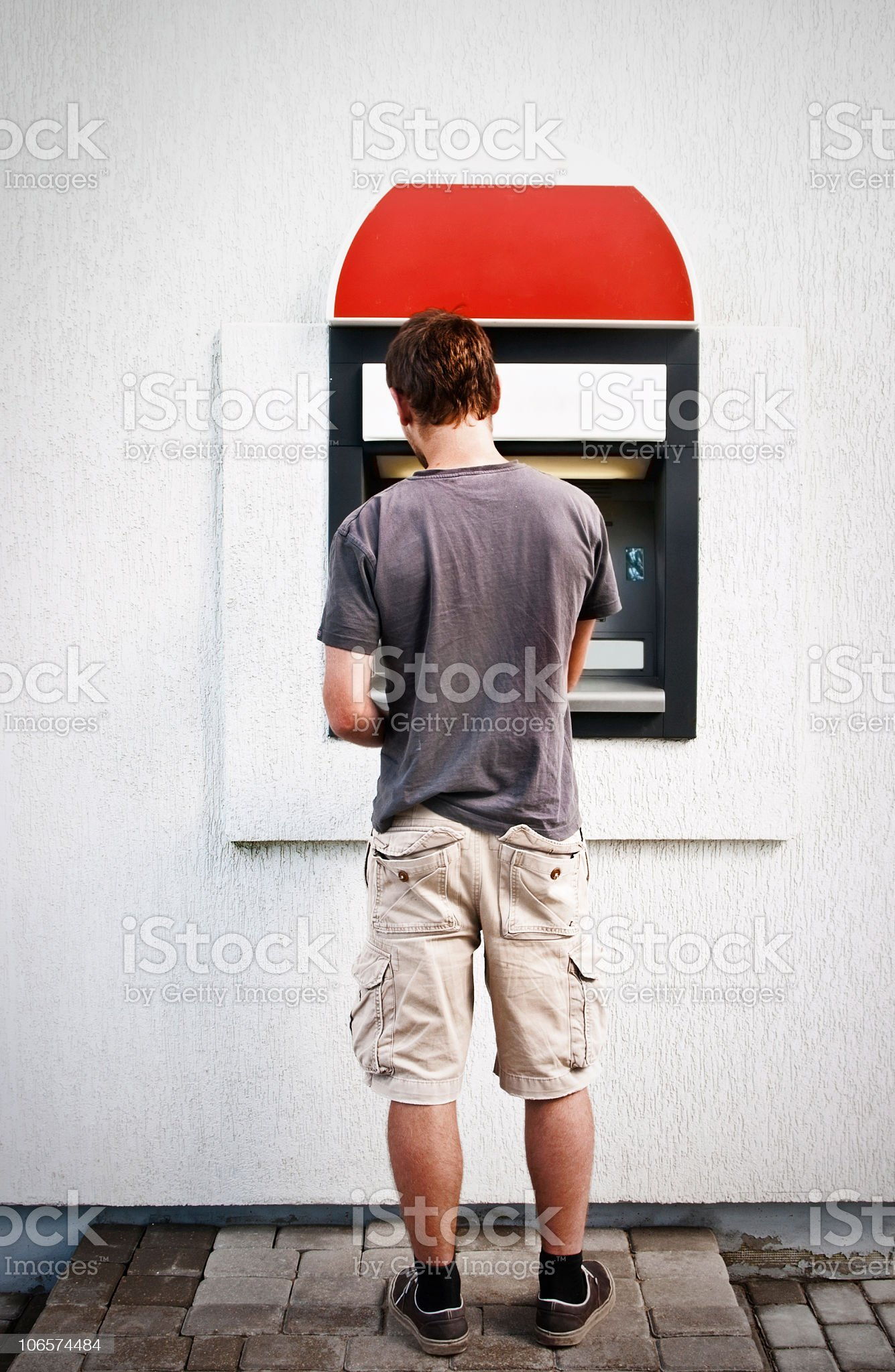 cash withdrawal royalty-free stock photo