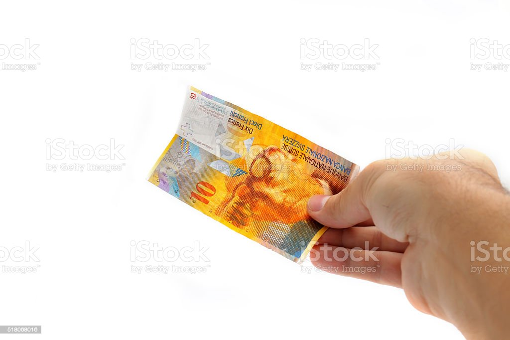 cash,10 swiss franc stock photo