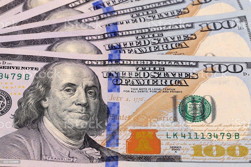 Cash,100 dollar banknotes stock photo