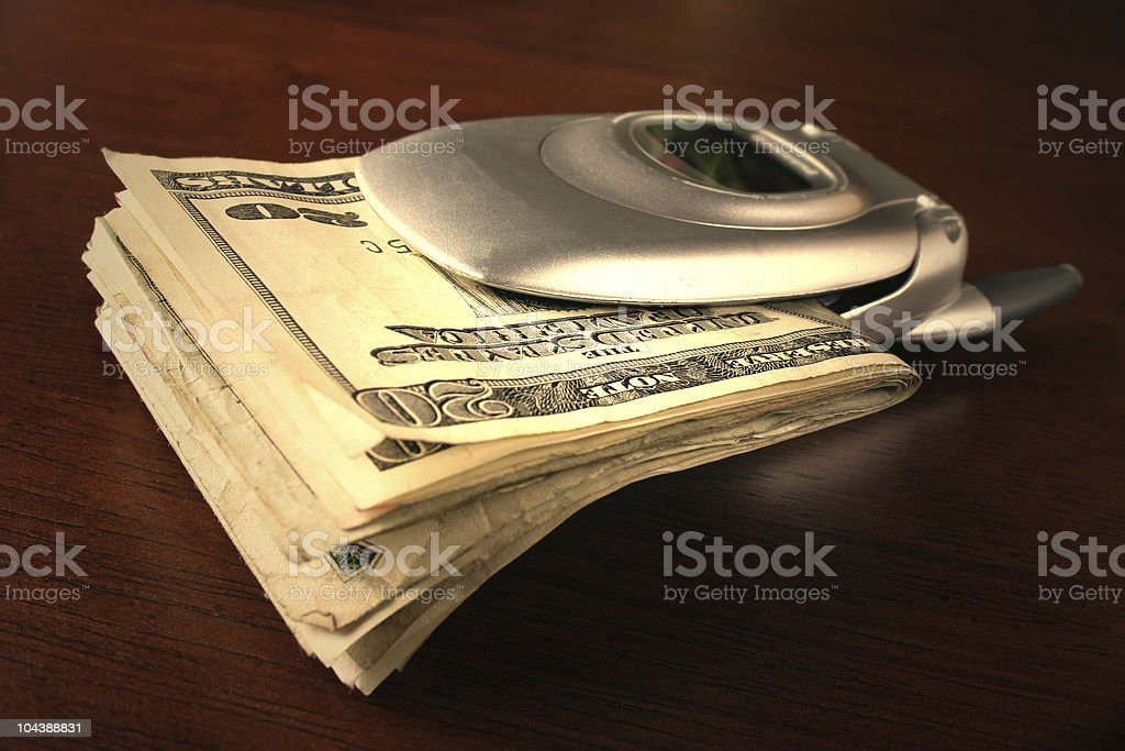 cash_cell phone royalty-free stock photo