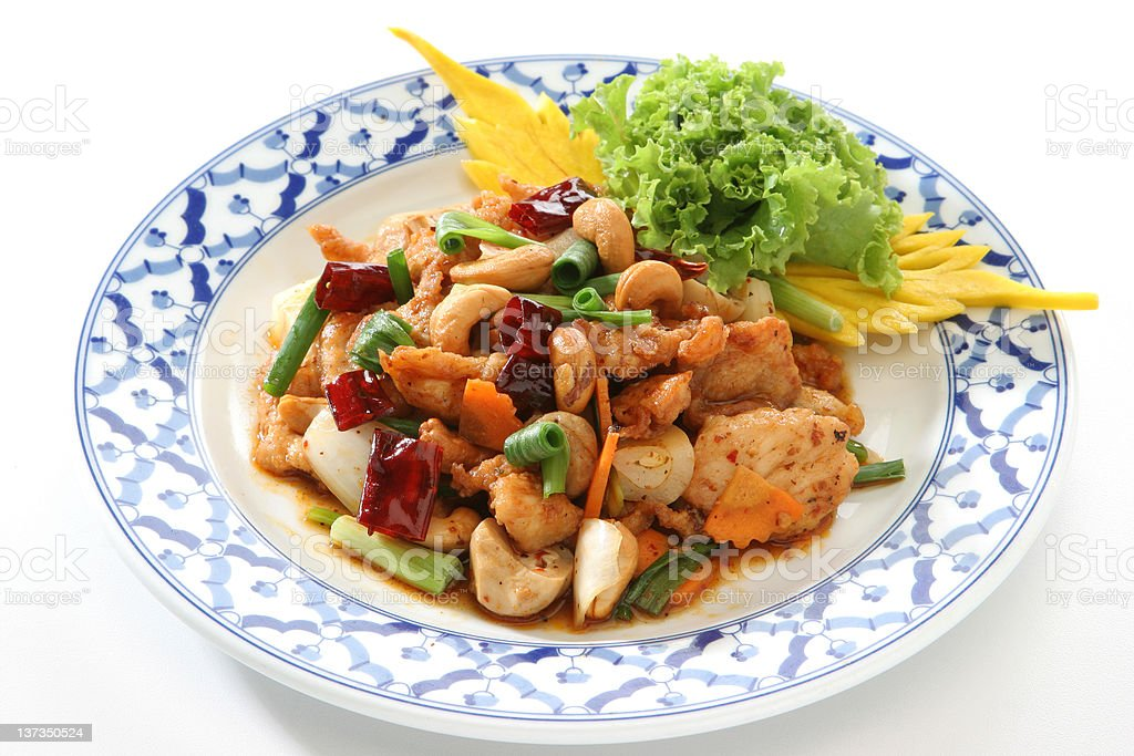 Cashew Nut Chicken royalty-free stock photo