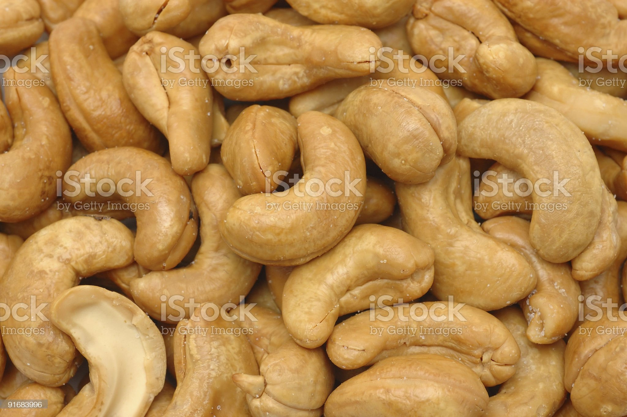 Cashew nuts background royalty-free stock photo