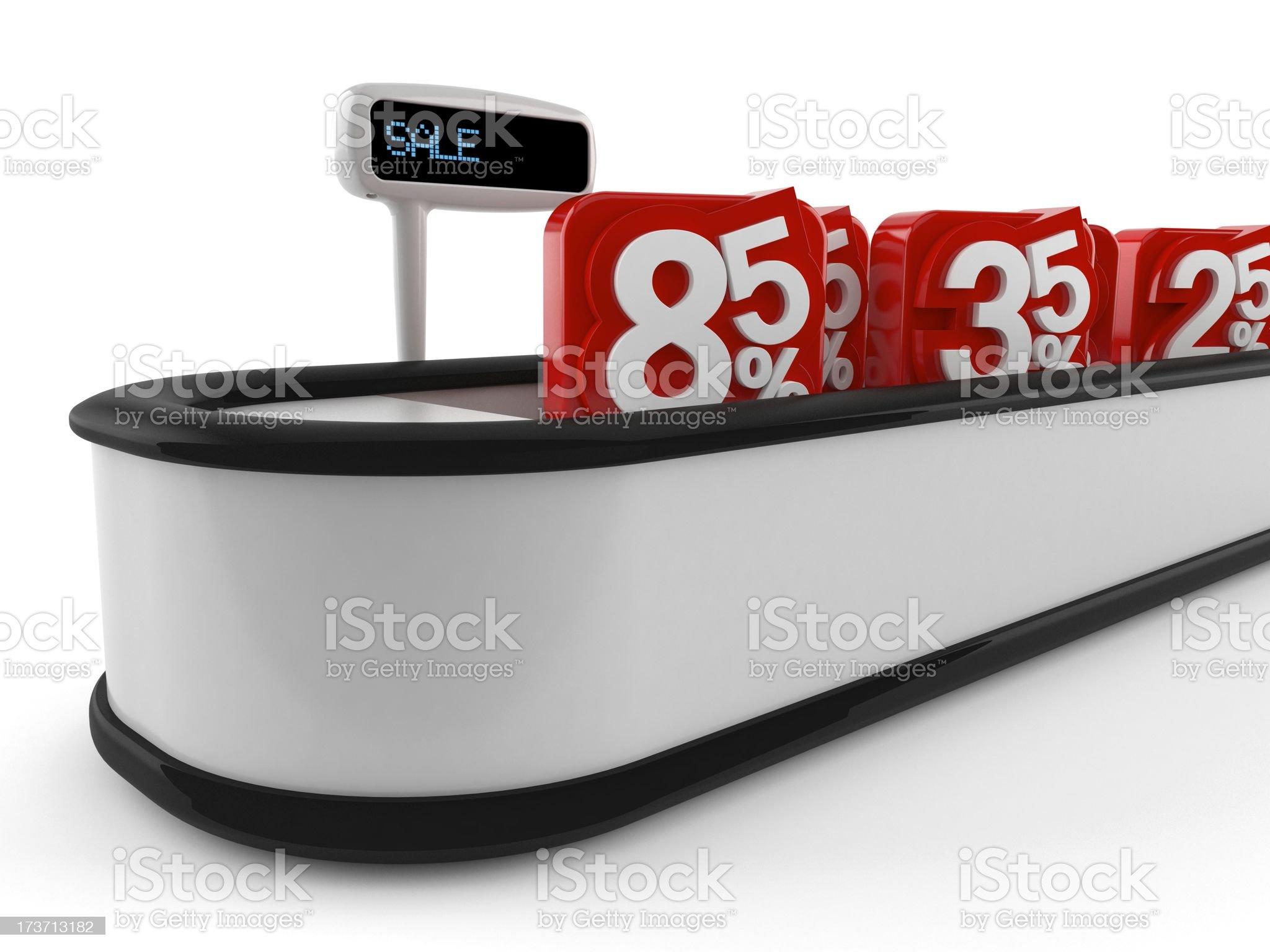 Cashier Counter Desk royalty-free stock photo