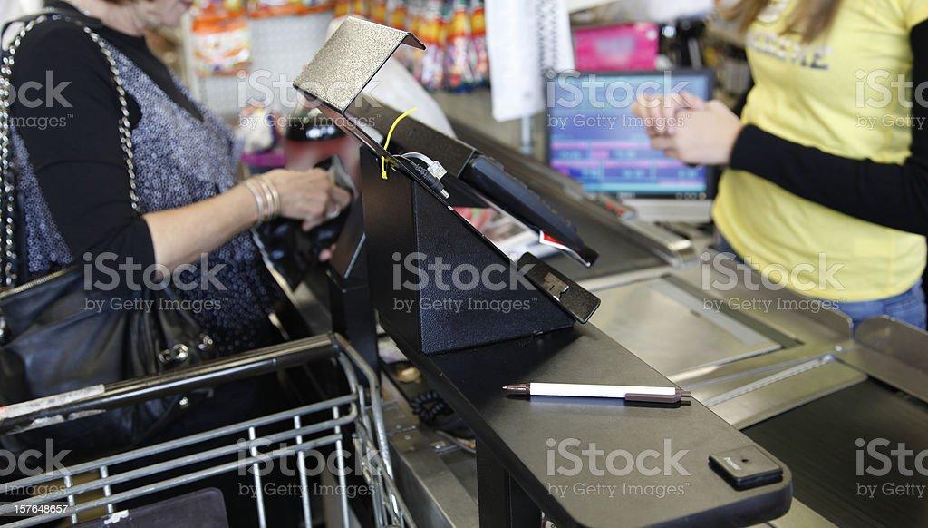 Cashier Transaction royalty-free stock photo