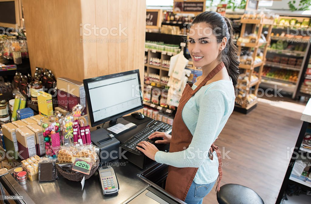 cashier working at the grocery store stock photo 534305902 istock