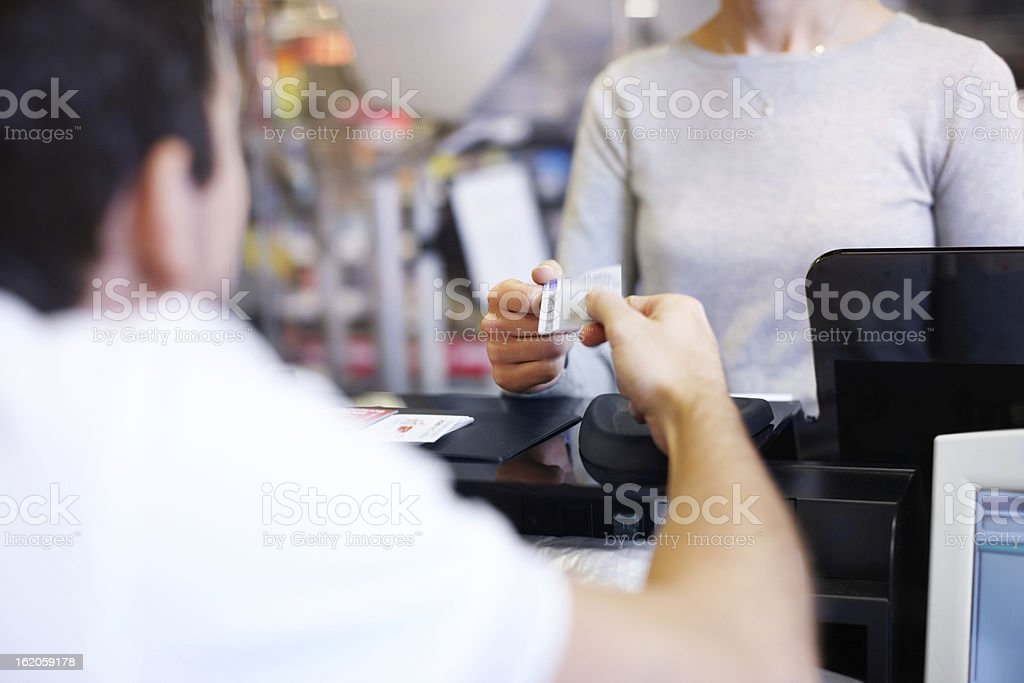 Cashless payment is so convenient royalty-free stock photo