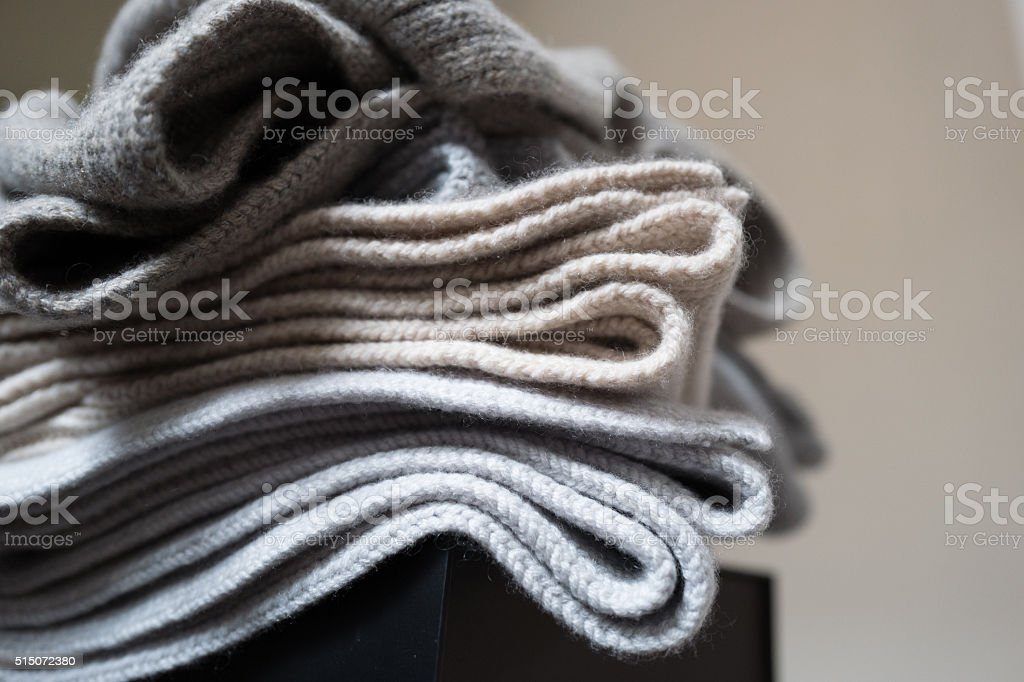 Cashmere Blankets stock photo