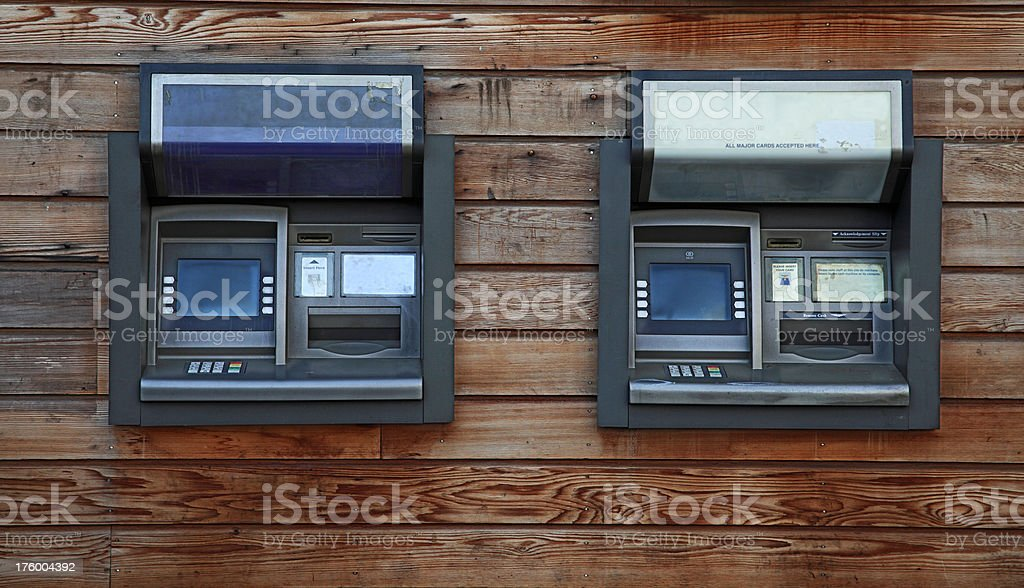 Cashpoints or ATMs royalty-free stock photo