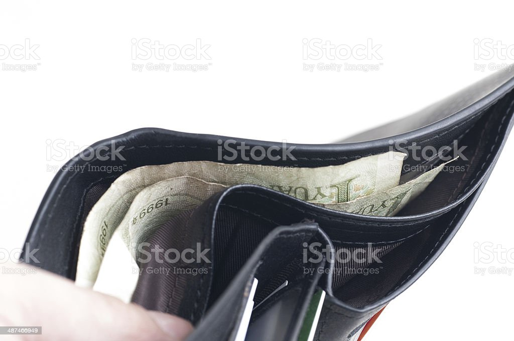 Cash-strapped royalty-free stock photo