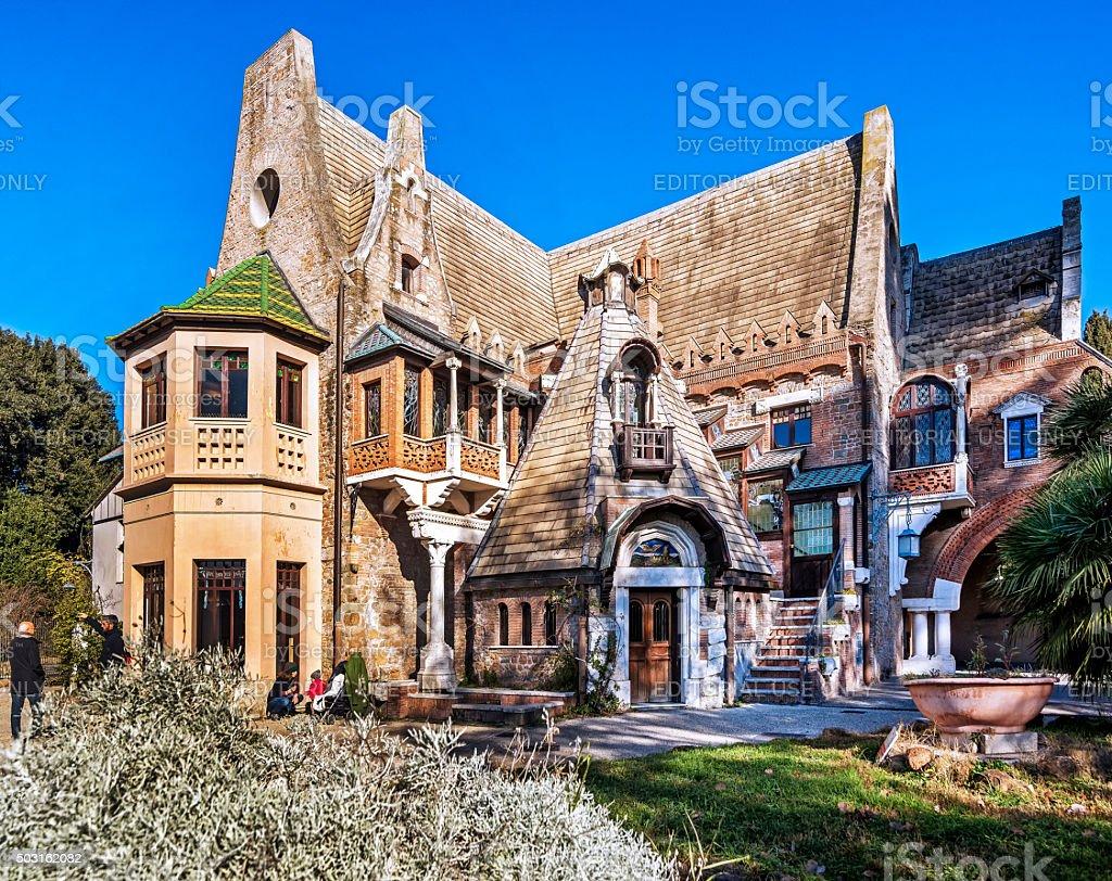 Casina delle Civette, Roma, Villa Torlonia stock photo