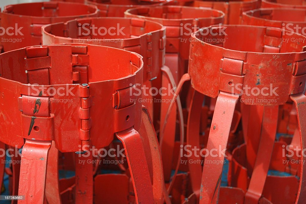 Casing centralizers royalty-free stock photo