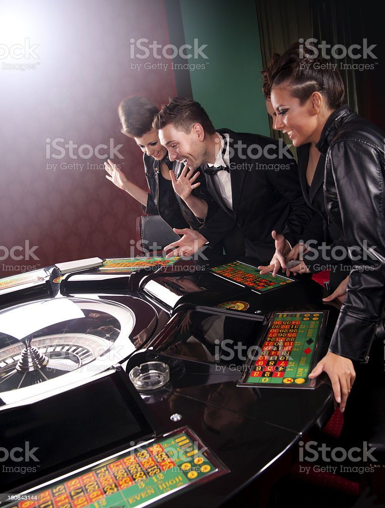 Casino and youth royalty-free stock photo