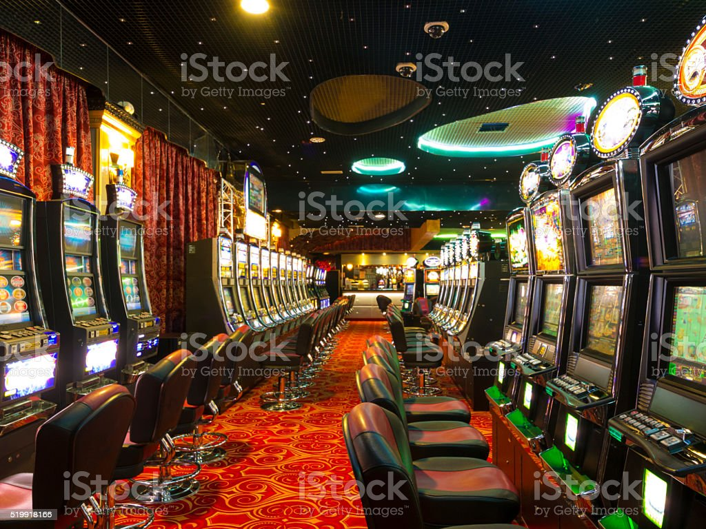 Casino at wait stock photo
