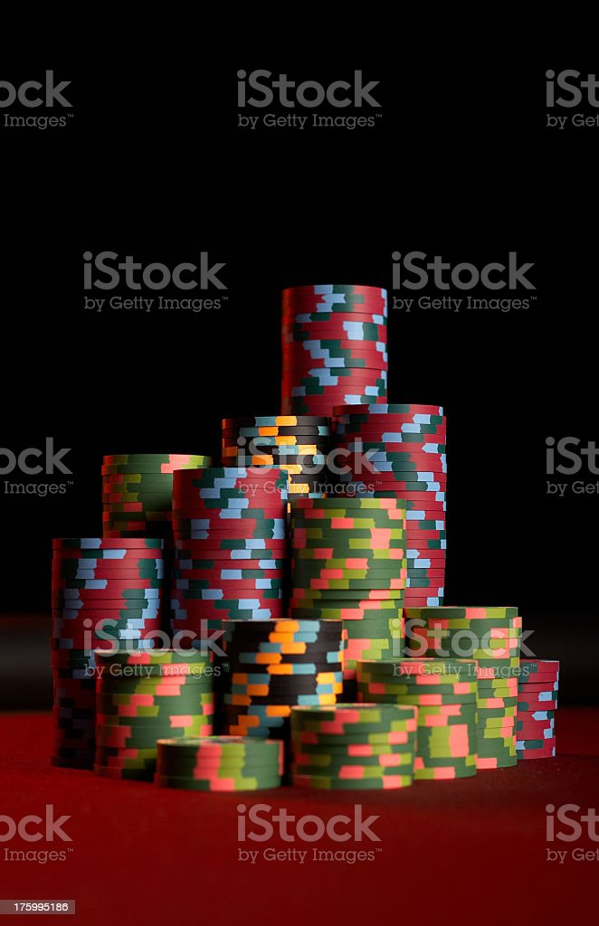Casino Chip Stack royalty-free stock photo