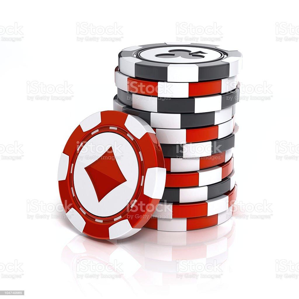 Casino chip stacks vector art illustration