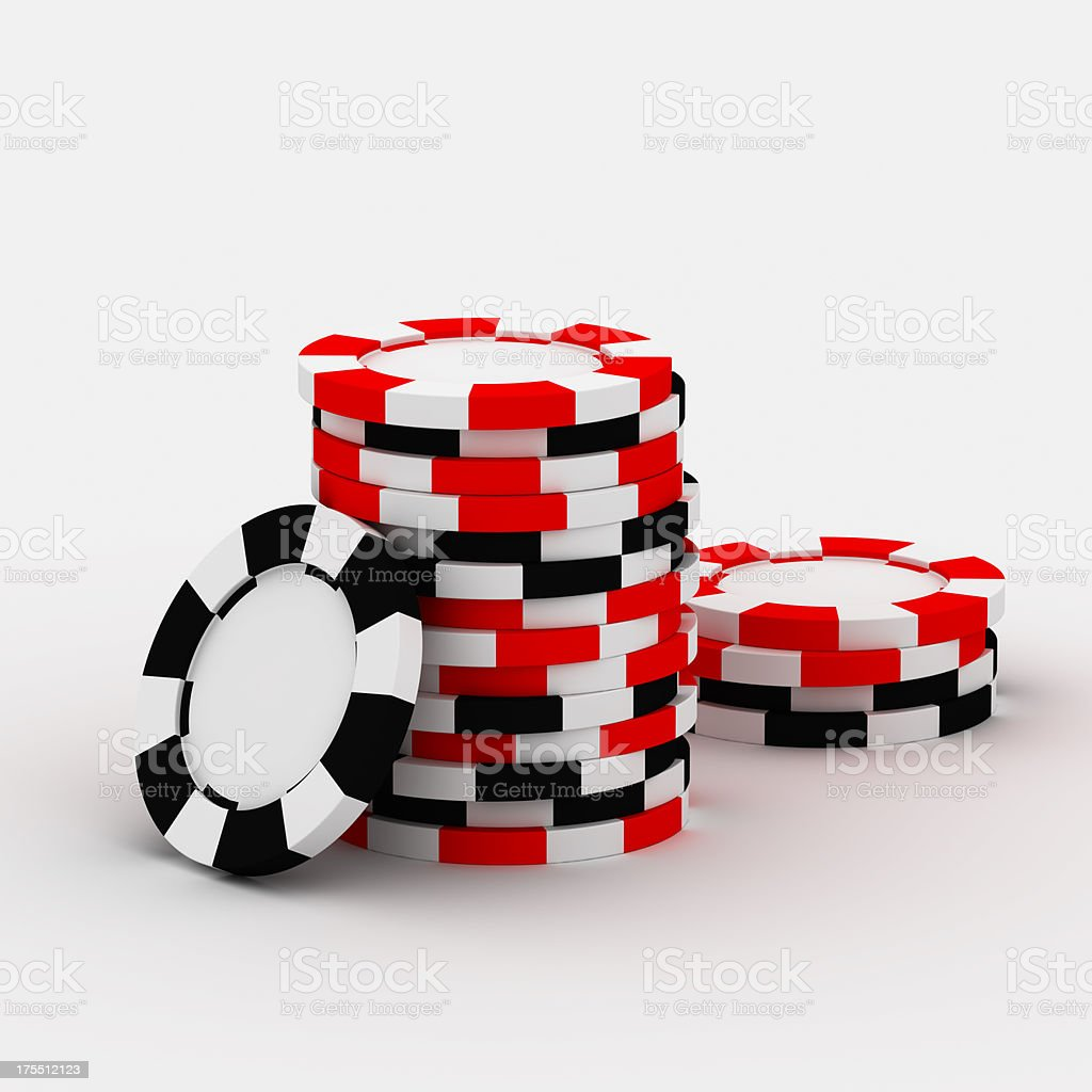 Casino chip stacks stock photo