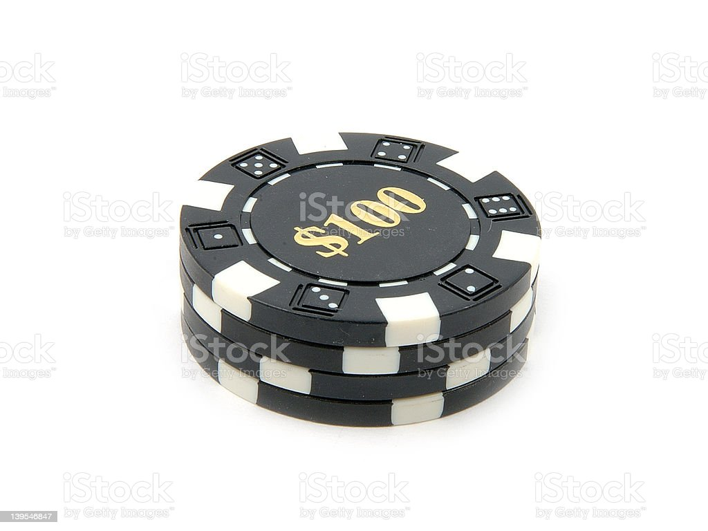 Casino Chips $100. royalty-free stock photo