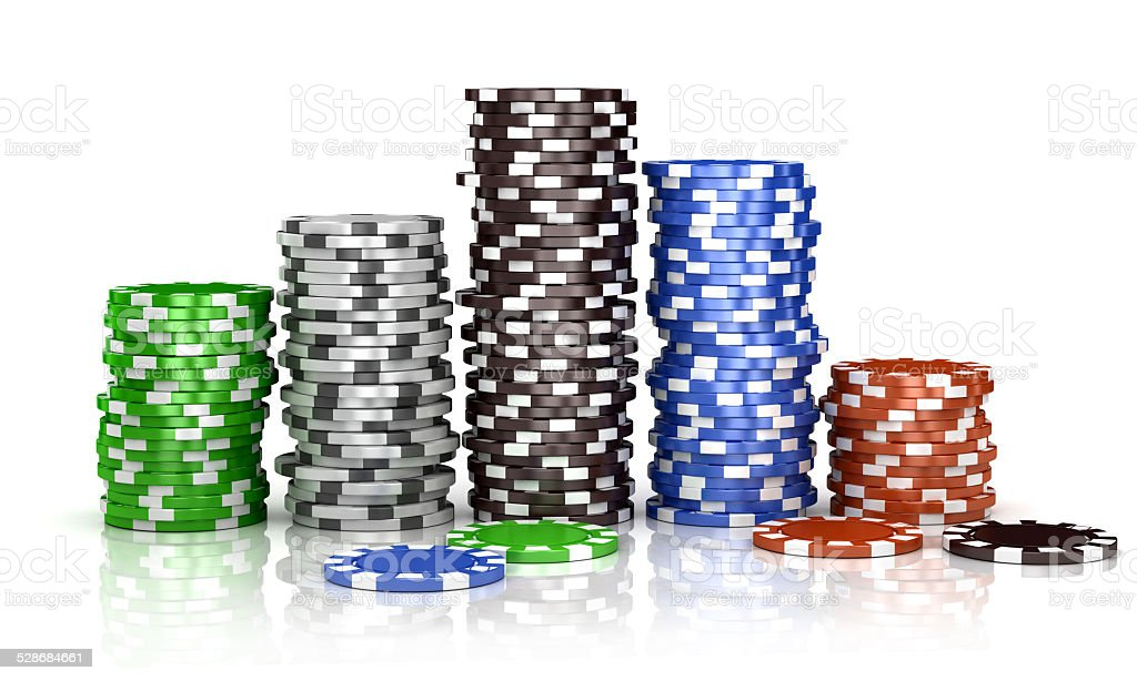 casino chips isolated on the white background stock photo