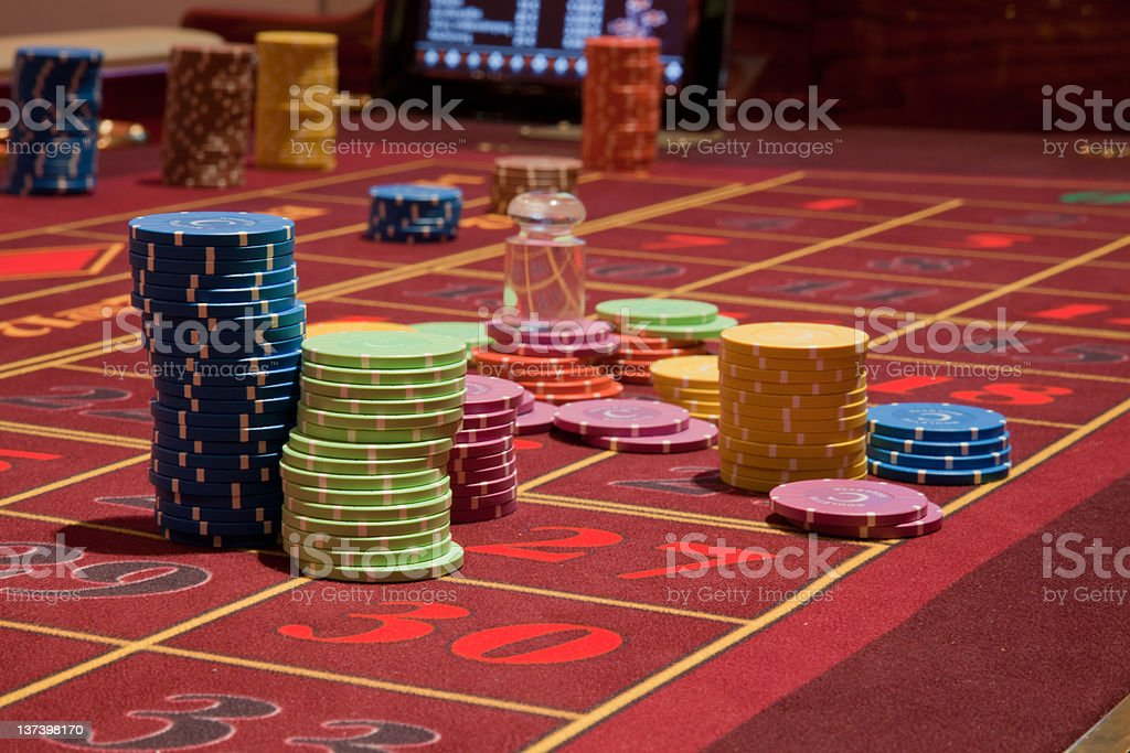 Casino Chips royalty-free stock photo