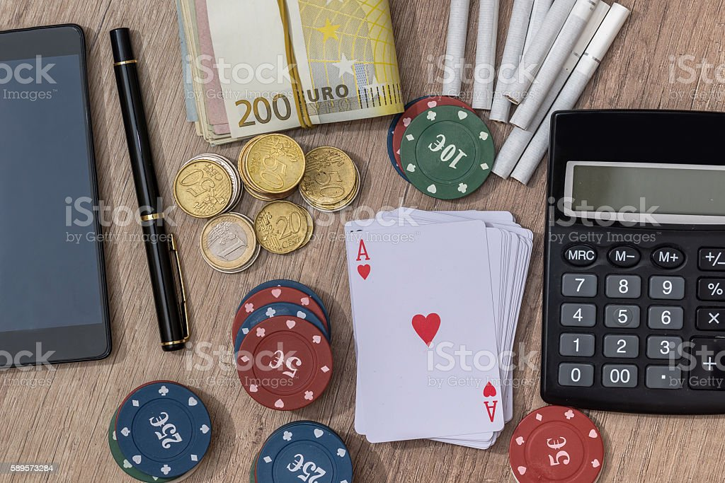 casino concept with accessories stock photo