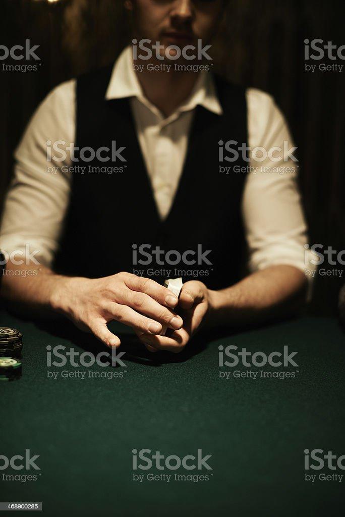 Casino dealer stock photo