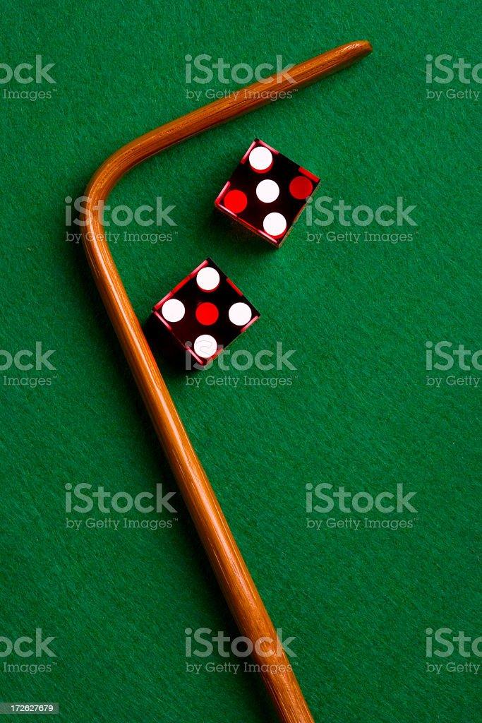 Casino Dice and Stick stock photo