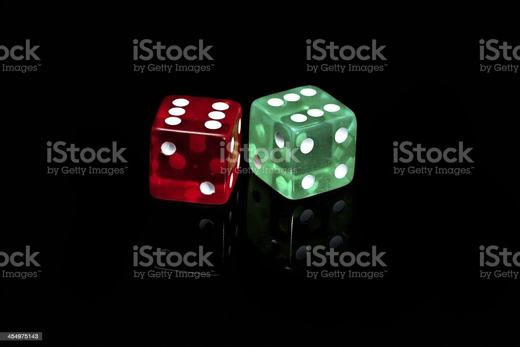 Casino dice stock photo