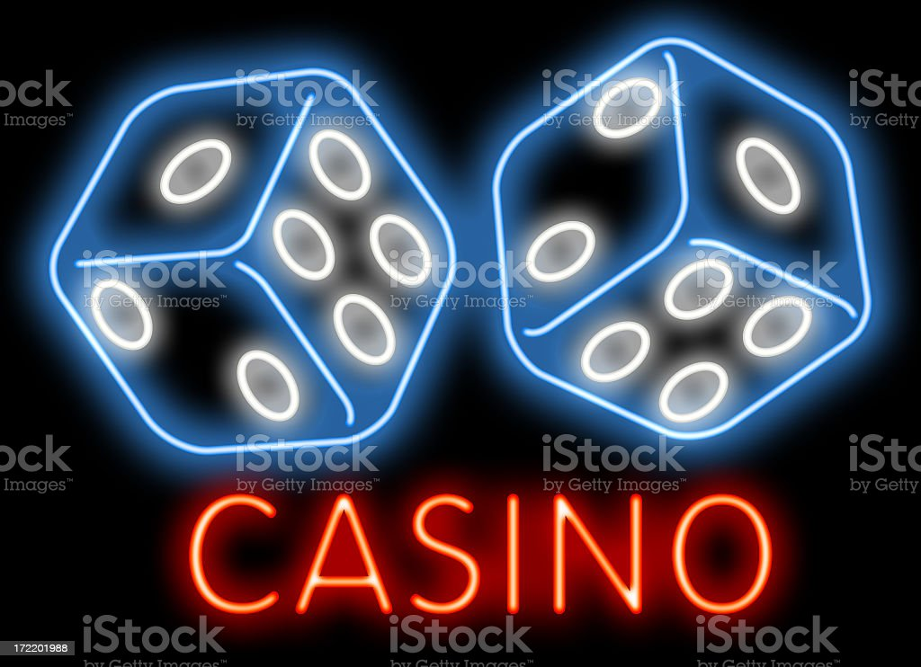 Casino dices stock photo