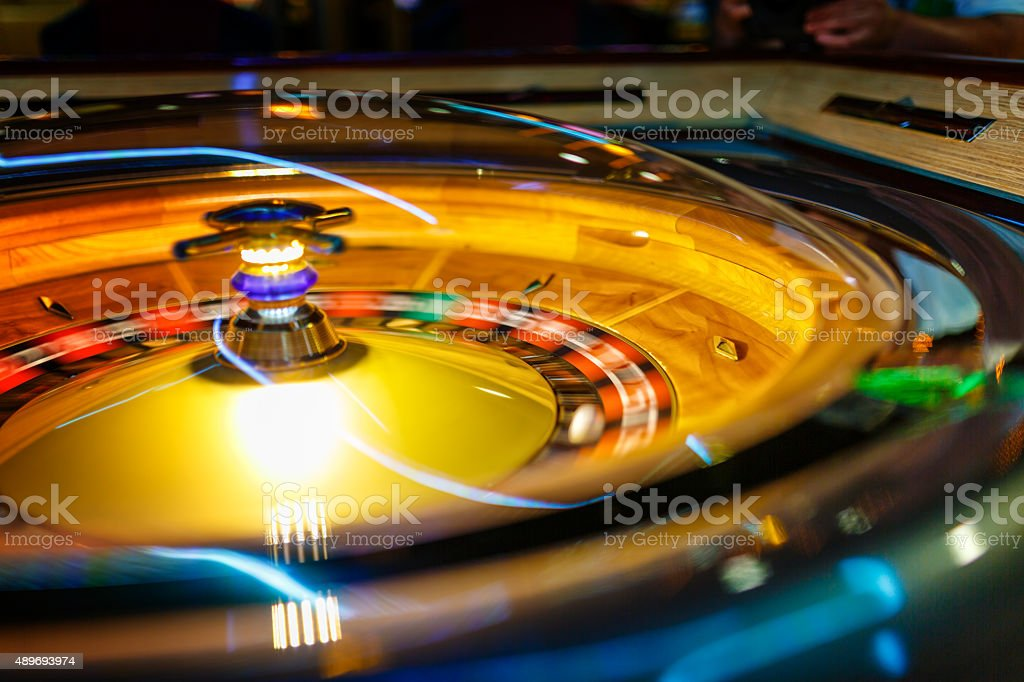 Casino electronic roulette wheel stock photo