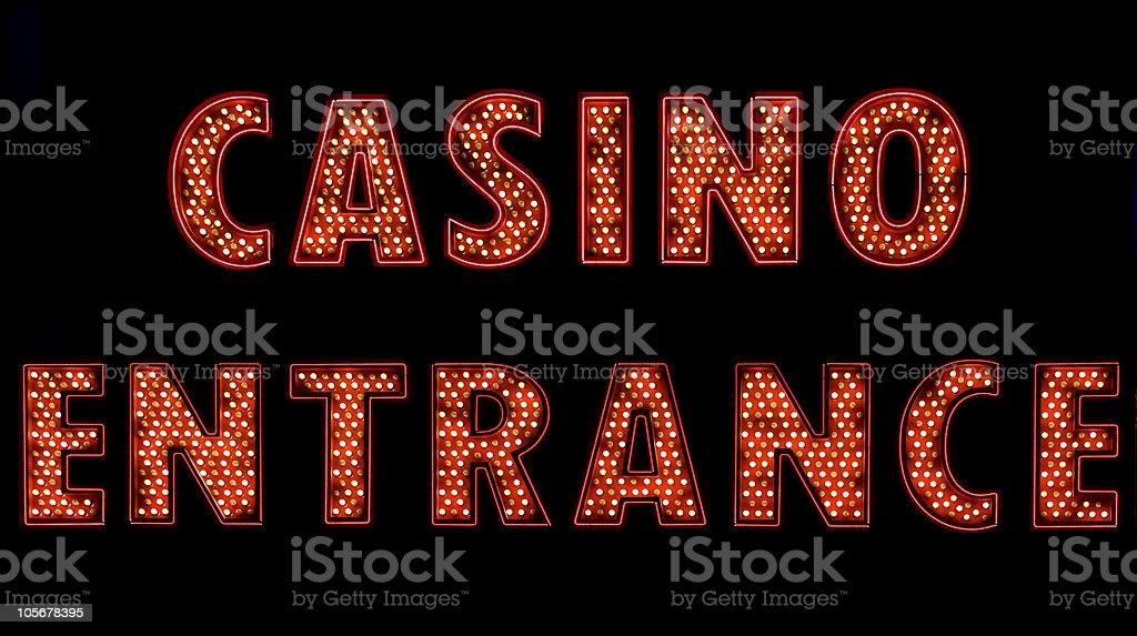 Casino Entrance stock photo
