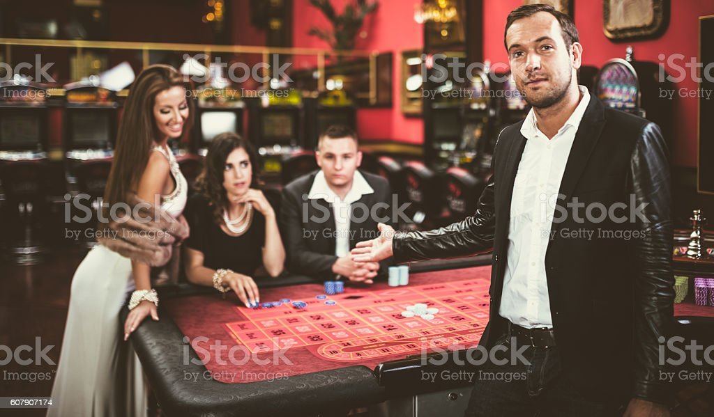 casino friends in las vegas stock photo