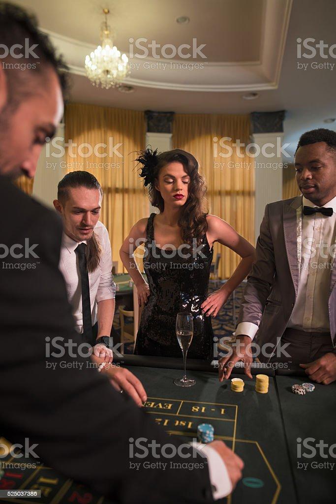 Casino gambling night stock photo