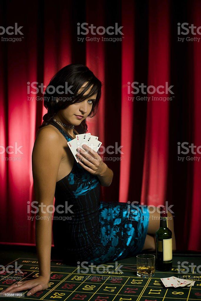Casino girl royalty-free stock photo