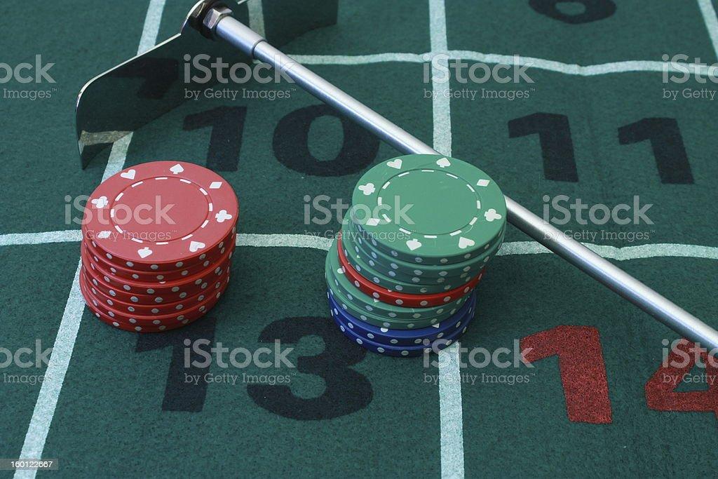 Casino, Lucky thirteen royalty-free stock photo