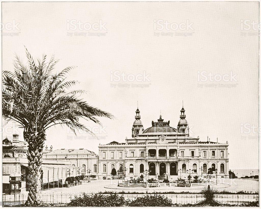 Casino, Monte Carlo in 1880s stock photo