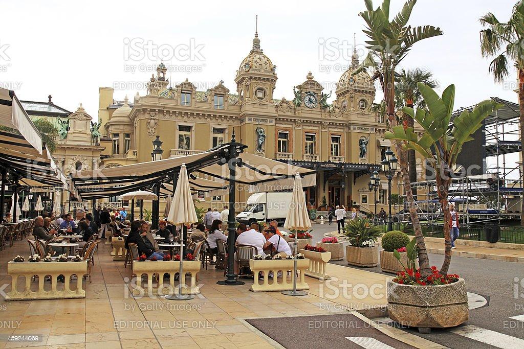 Casino Monte-Carlo and Cafe de Paris in Monte Carlo, Monaco stock photo
