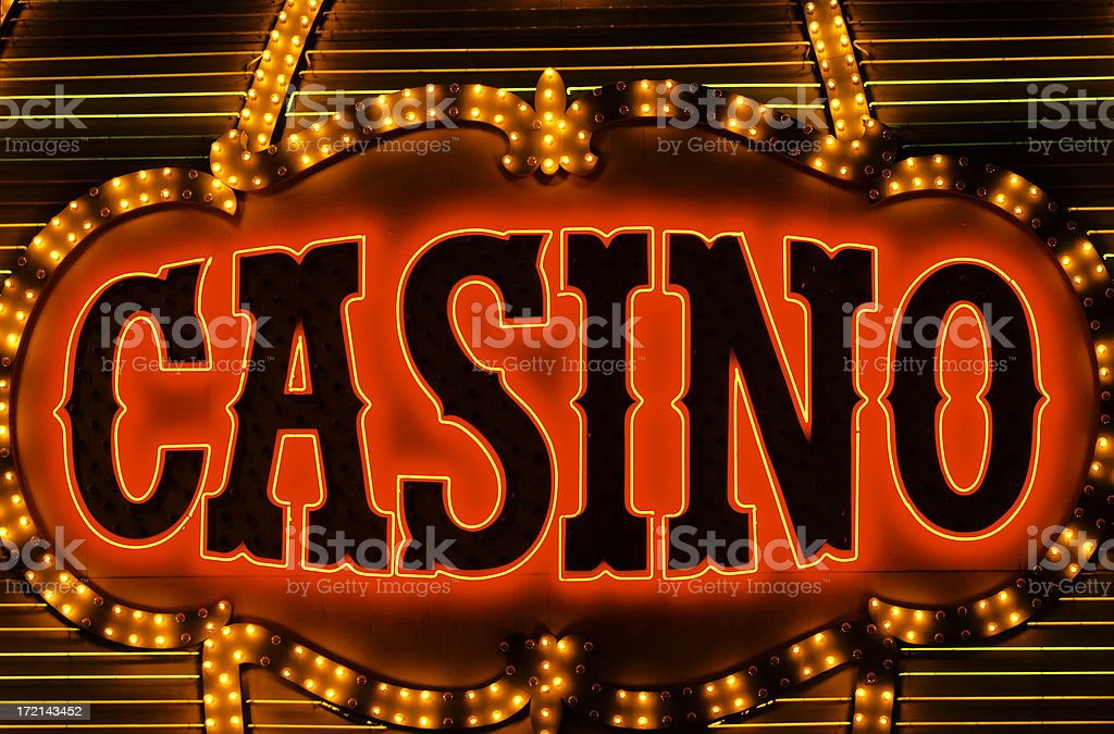 casino neon royalty-free stock photo