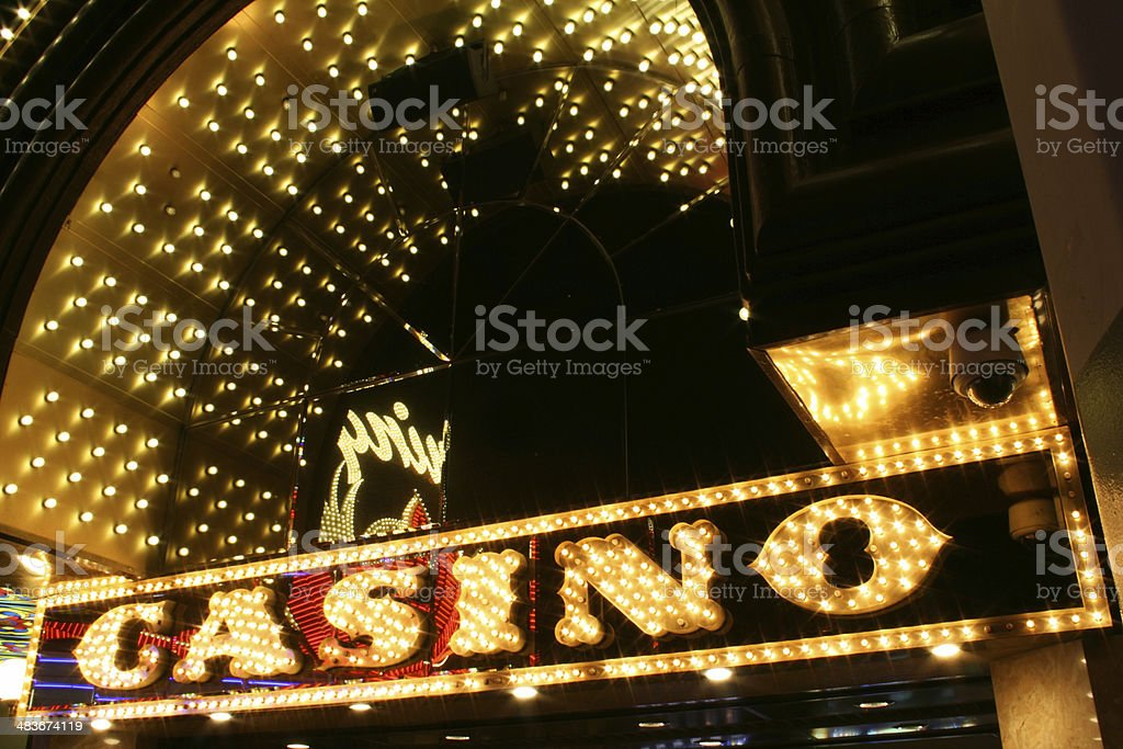 Casino Neon Sign, Las Vegas royalty-free stock photo