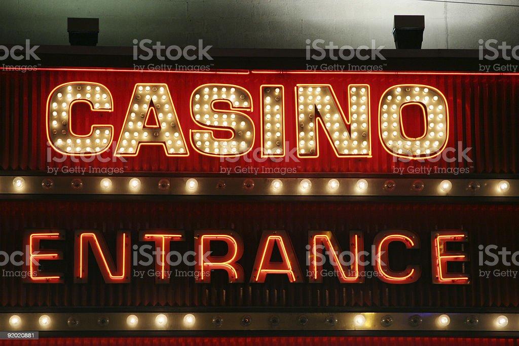 Casino neon sign stock photo