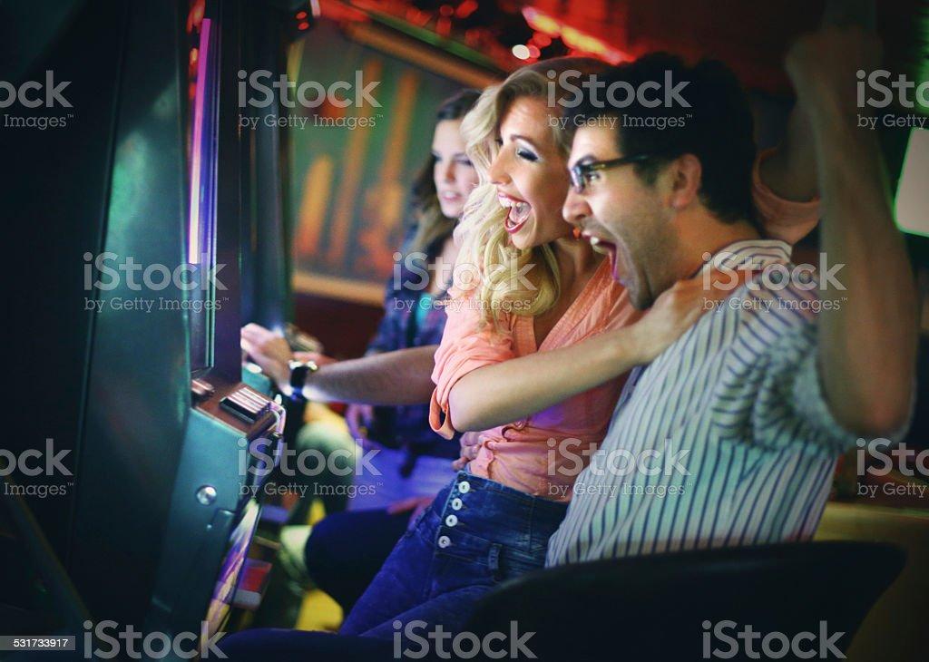 Casino night. stock photo