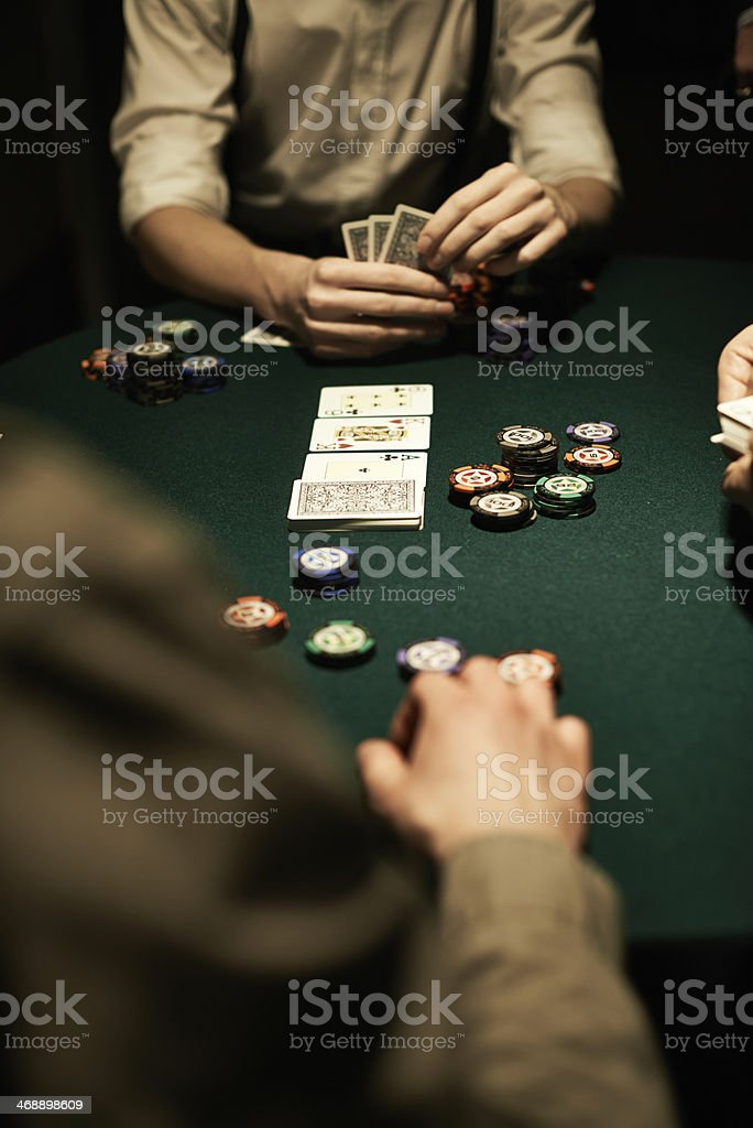 Casino poker stock photo