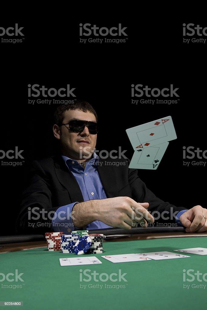 Casino poker royalty-free stock photo