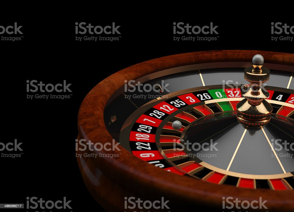 Casino Roulette 3D wheel stock photo