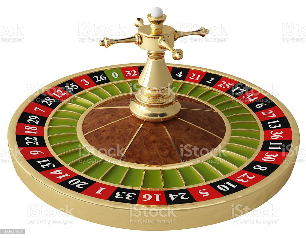 A casino roulette on white background royalty-free stock photo