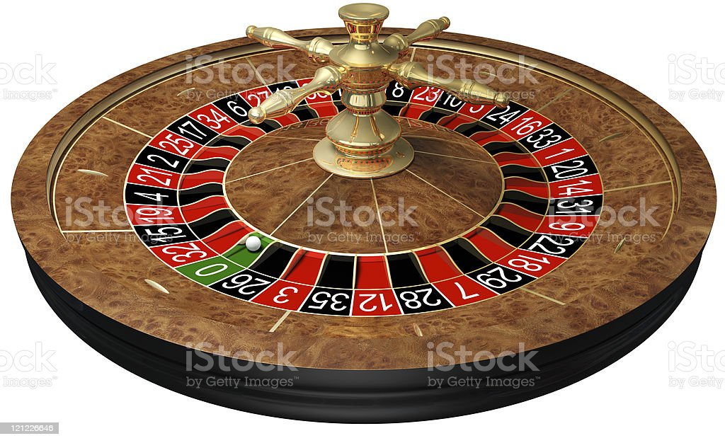 Casino roulette on white royalty-free stock photo