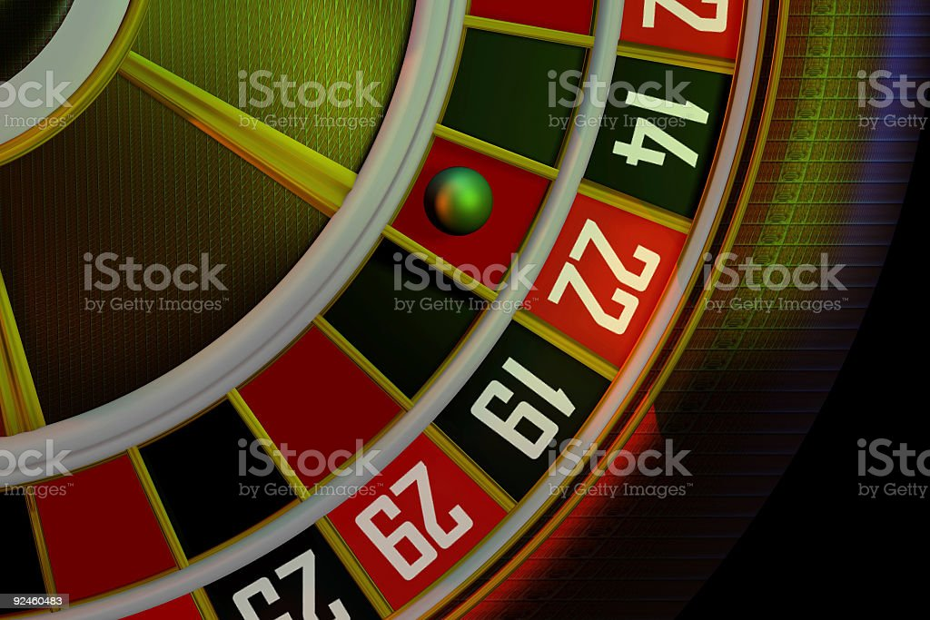 Casino, roulette (3D) royalty-free stock photo
