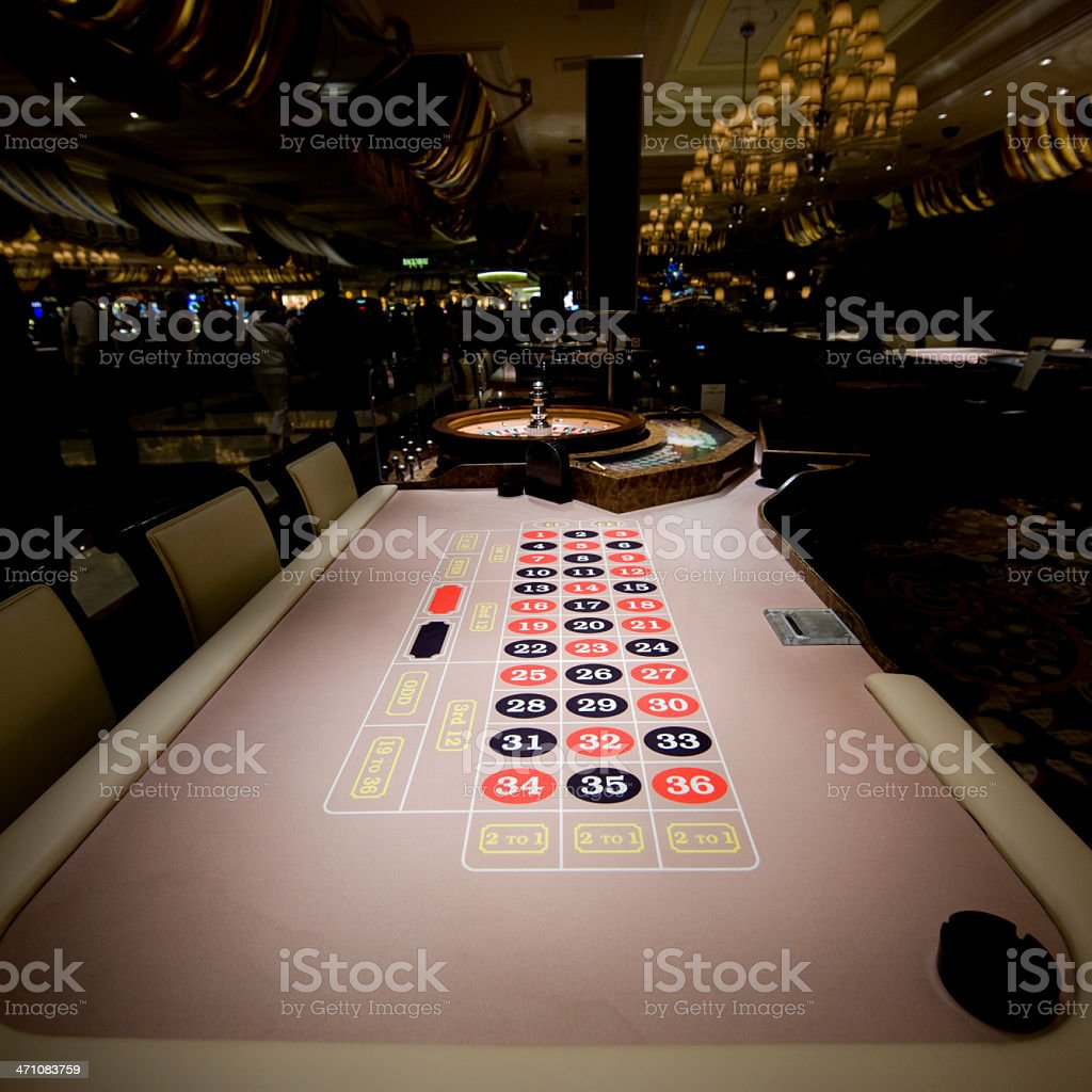 casino roulette table royalty-free stock photo