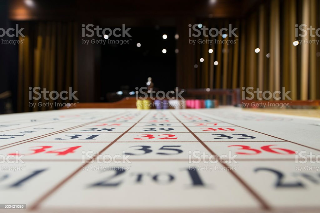 Casino Roulette Table stock photo