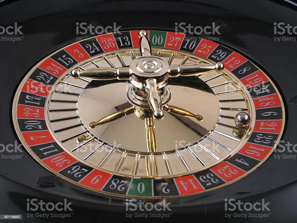 Casino Roulette Wheel royalty-free stock photo